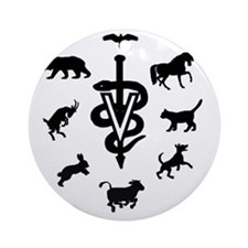 caduceus animals Round Ornament