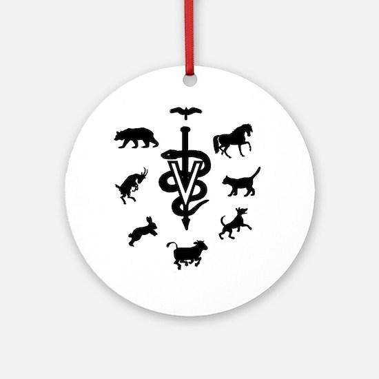 caduceus animals Round Ornament