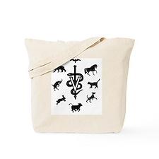 caduceus animals Tote Bag