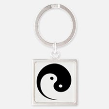 2-yinyang_hat Square Keychain