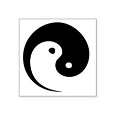 "2-yinyang_hat Square Sticker 3"" x 3"""