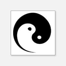 "2-yinyang_hat Square Sticker 3"" x 3"""