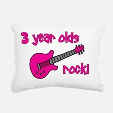 3yearoldsrock_pinkguitar Rectangular Canvas Pillow