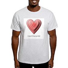 Love Heart Ash Grey T-Shirt