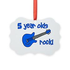 5yearoldsrock_blueguitar Ornament
