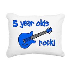 5yearoldsrock_blueguitar Rectangular Canvas Pillow
