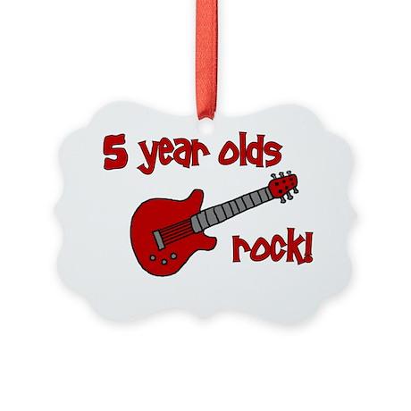 5yearoldsrock_redguitar Picture Ornament