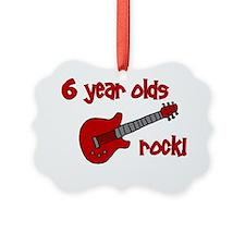 6yearoldsrock_redguitar Ornament