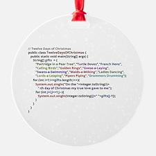 Twelve Days Of Christmas In Java Ornament