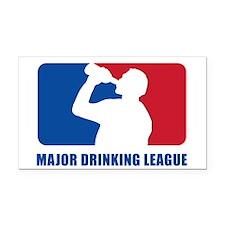 Major Drinking League Rectangle Car Magnet
