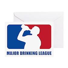 Major Drinking League Greeting Card