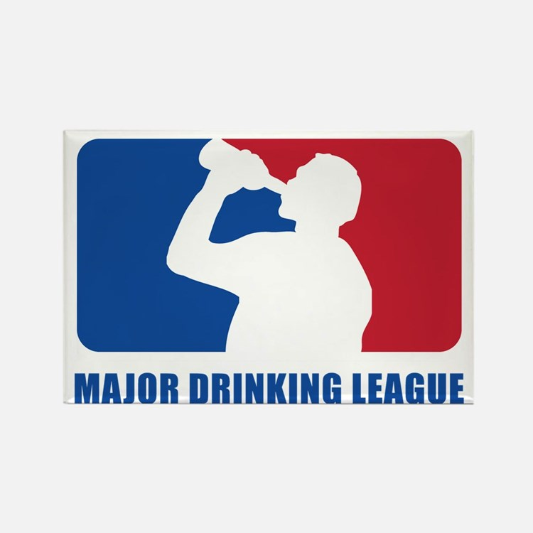 Major Drinking League Rectangle Magnet
