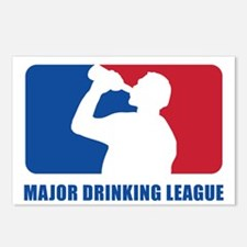 Major Drinking League Postcards (Package of 8)