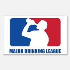 Major Drinking League Sticker (Rectangle)