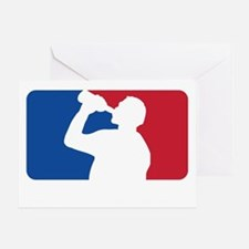 Major Drinking League White Greeting Card