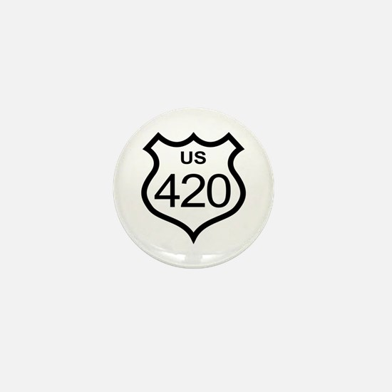 US Highway 420 Mini Button (10 pack)