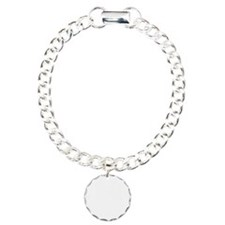 Out Of Beer White Charm Bracelet, One Charm