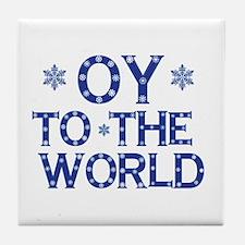OY To The World Tile Coaster