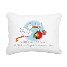 stork baby port white 2 Rectangular Canvas Pillow