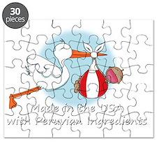 stork baby peru white 2 Puzzle