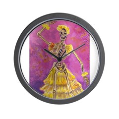 Skeletal Flamenco Wall Clock