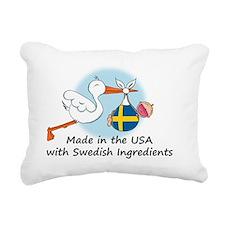 stork baby swe 2 Rectangular Canvas Pillow