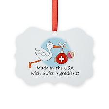 stork baby switz 2 Ornament