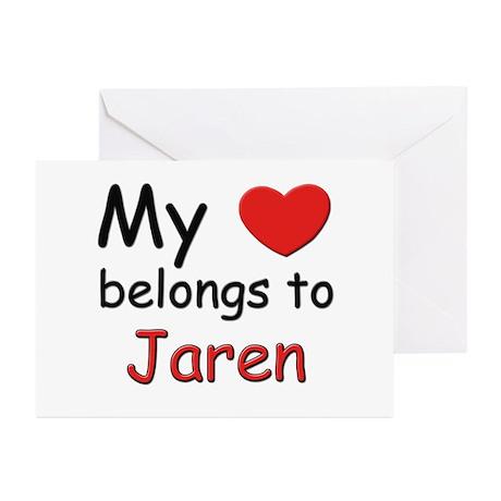 My heart belongs to jaren Greeting Cards (Package