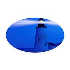 Pemaquid Maine Oval Car Magnet