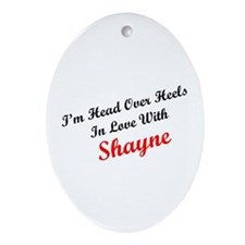 In Love with Shayne Oval Ornament