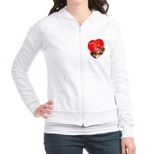 doxie puppy love Fitted Hoodie