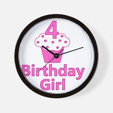 birthdaygirl_4 Wall Clock
