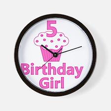 birthdaygirl_5 Wall Clock