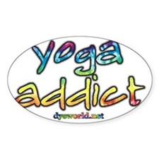 yoga-addict-d Decal