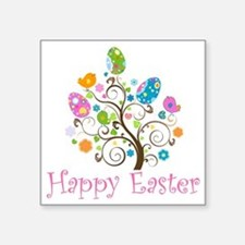 "Happy Easter Square Sticker 3"" x 3"""