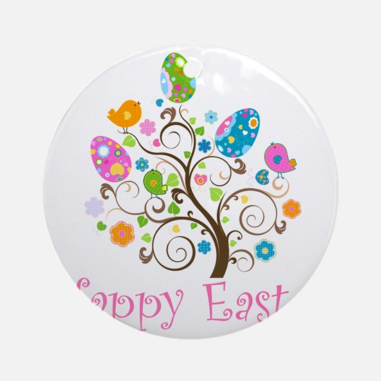 Happy Easter Round Ornament