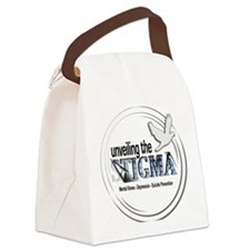 button Canvas Lunch Bag