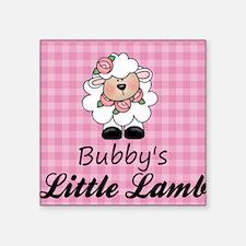 "little lamb girl Square Sticker 3"" x 3"""