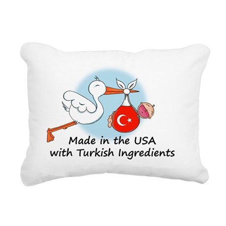 stork baby tk 2 Rectangular Canvas Pillow
