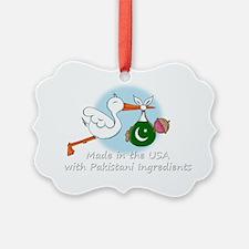 stork baby pak white 2 Ornament