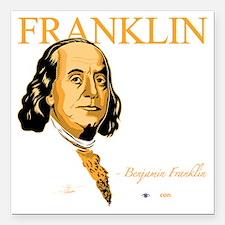 "2-FQ-01-D_Franklin-Final Square Car Magnet 3"" x 3"""