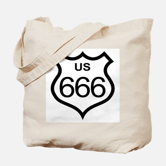 US Highway 666 Tote Bag