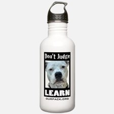dontjudgelearn4 Water Bottle