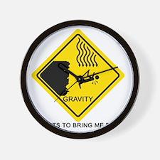 Gravity-black Wall Clock