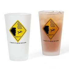Gravity-black Drinking Glass
