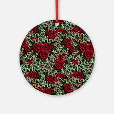SPARKLING ROSES Ornament (Round)