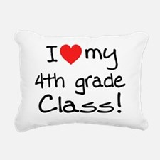 heart my 4th grade class Rectangular Canvas Pillow