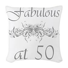 Foral 50 Woven Throw Pillow
