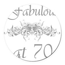 Foral 70 Round Car Magnet
