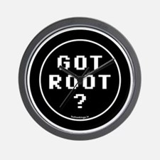 btn-geek-got-root Wall Clock